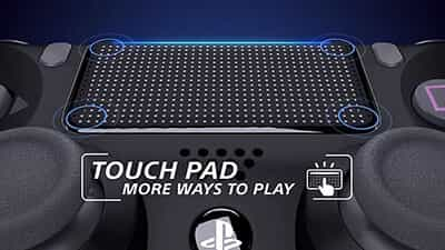 dualshock 4 touch pad feature image 1 - دسته بازی PlayStation 4 - آبی ارتشی