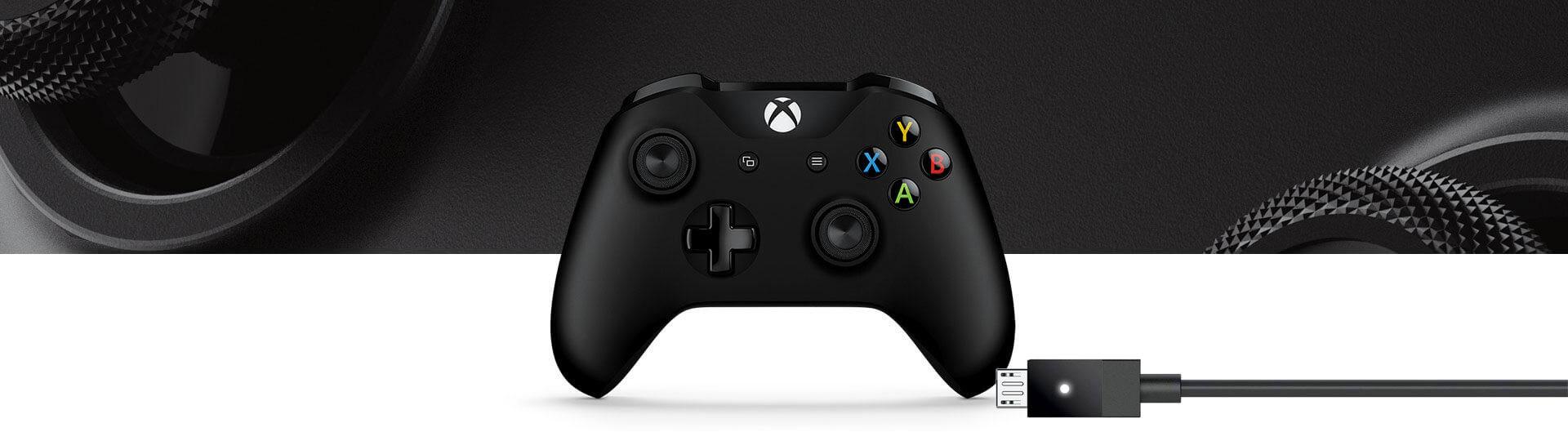 microsoft Xbox One S Wireless Controller with Cable for Windows 1 1 - دسته بازی Xbox One S به همراه کابل مخصوص Windows