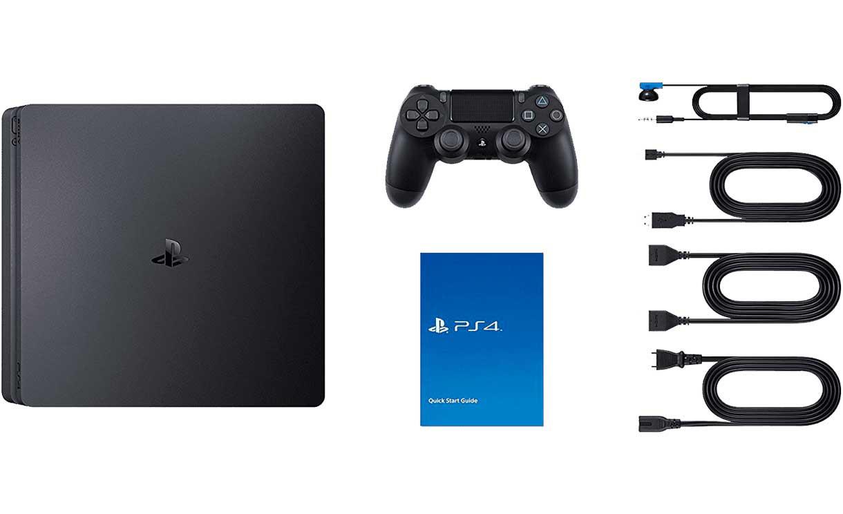 ps4 slim in box min - کنسول بازی PS4 Slim دو دسته ریجن 2 - ظرفیت 1 ترابایت