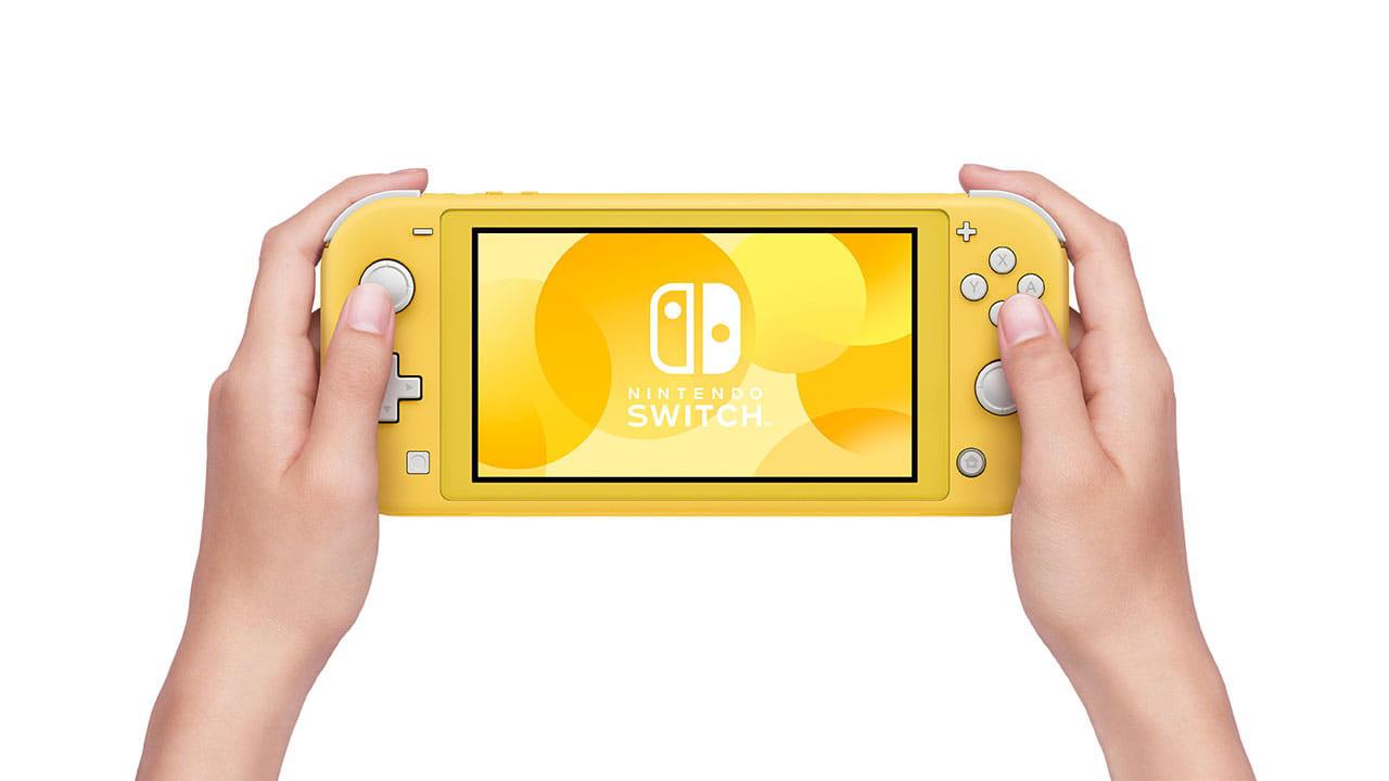 Switch Light Yellow hands min - کنسول بازی Nintendo Switch Lite - زرد