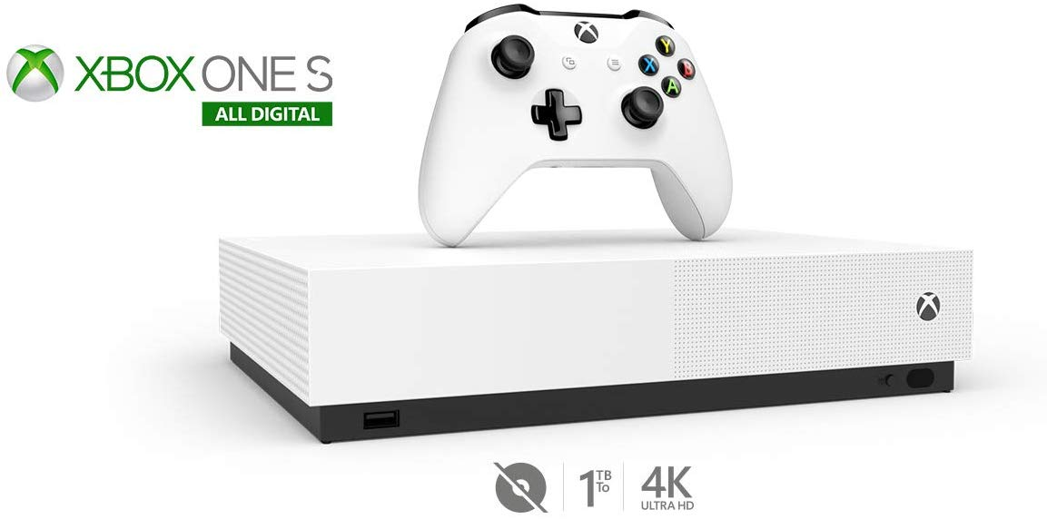 xbox one s all digital edition 02 - کنسول بازی Xbox One S All-Digital Edition - ظرفیت 1 ترابایت