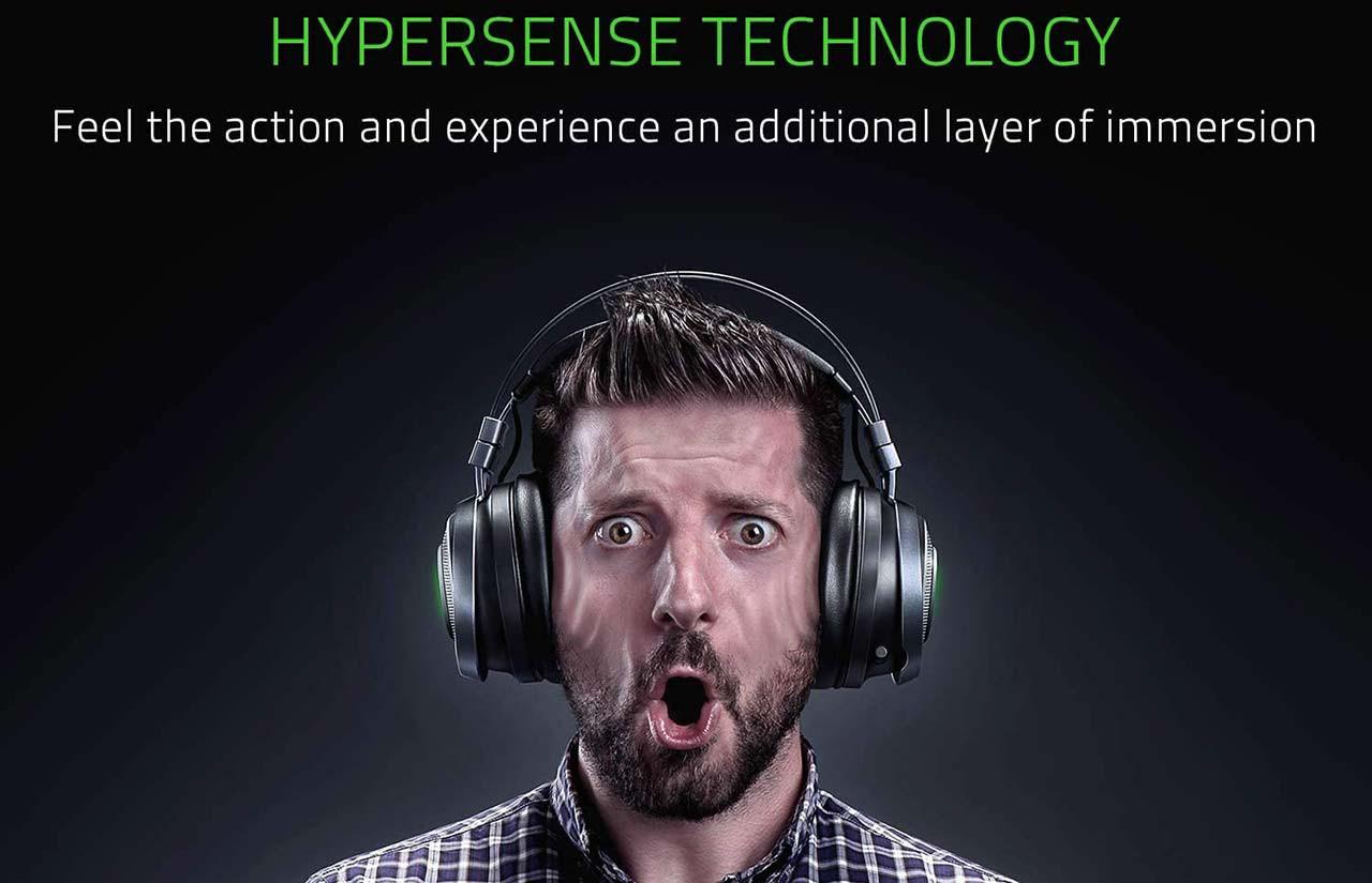هدست ریزر مدل Nari Ultimate HyperSense