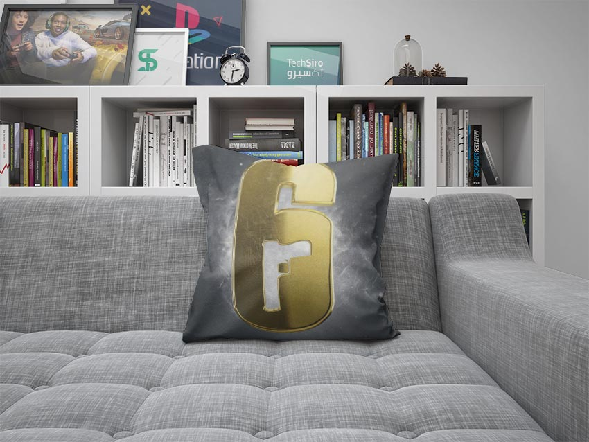 بالش طرح Rainbow Six Siege Logo Gold