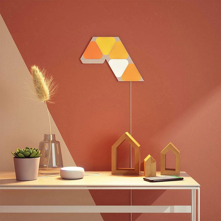 کیت هوشمند روشنایی 5 تکه نانولیف مدل Mini Triangle Smarter Kit