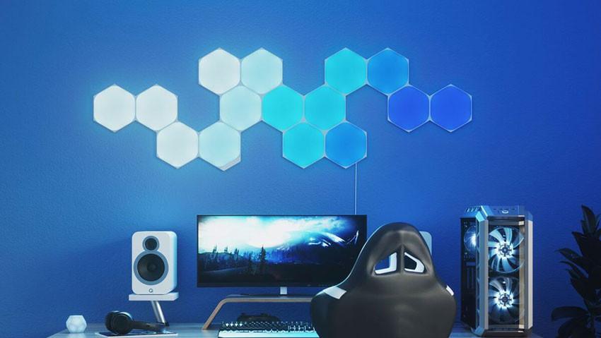کیت هوشمند روشنایی 15 تکه نانولیف مدل Hexagon Smarter Kit