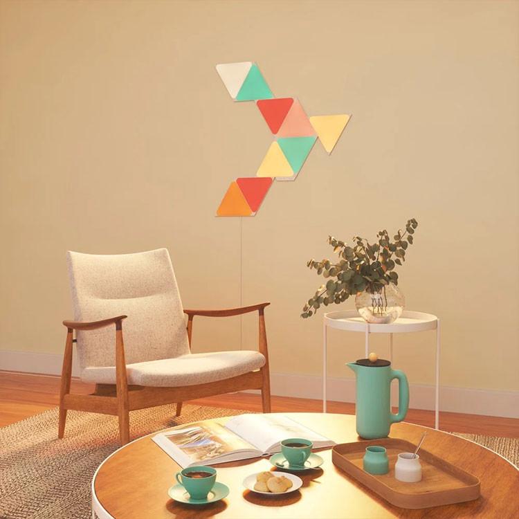 کیت هوشمند روشنایی 9 تکه نانولیف مدل Triangle Smarter Kit