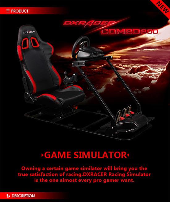 صندلی ریسینگ DXRacer مدل Racing Simulator PS/COMBO/200