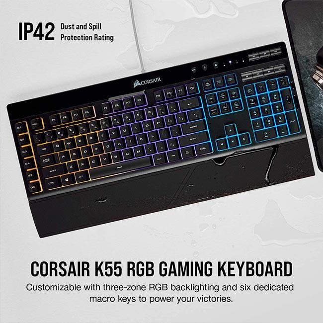 کیبورد کورسیر مدل Corsair K55 RGB