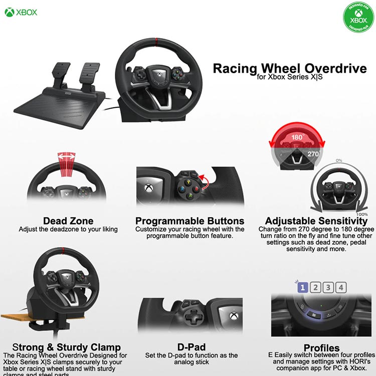 فرمان بازی Hori Racing Wheel Overdrive مناسب Xbox Series X