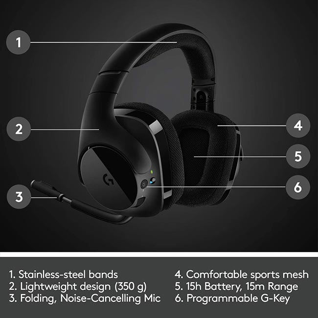 هدست Logitech G533 Wireless