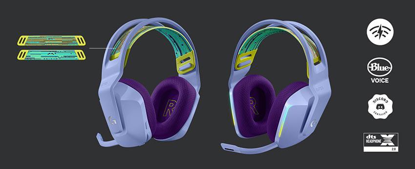 هدست Logitech G733 Wireless - سفید