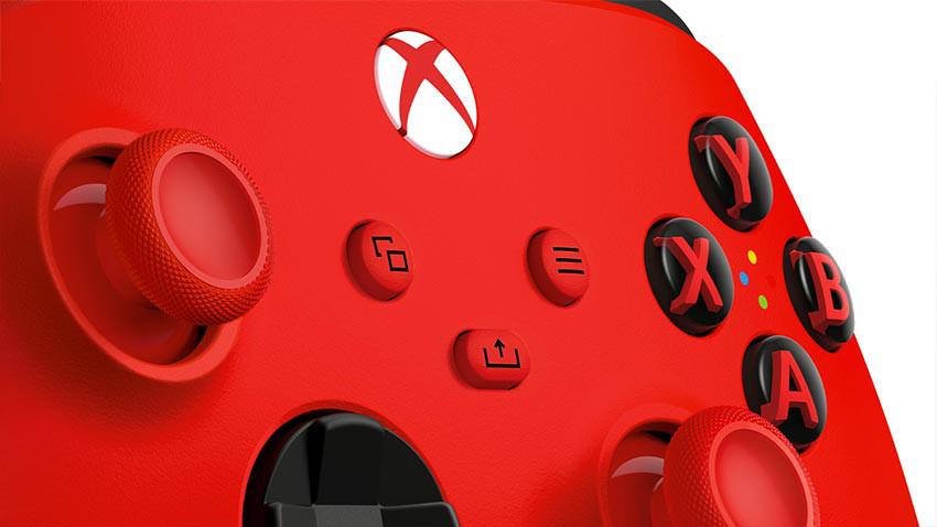 دسته xbox series x قرمز