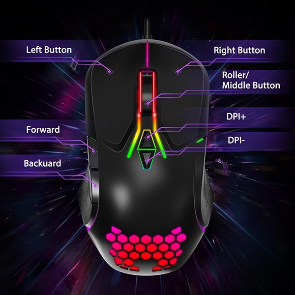 ماوس گیمینگ اونیکوما مدل Onikuma CW902 RGB