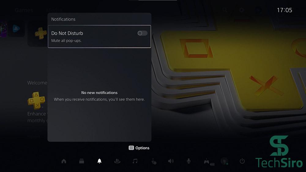 گزینه Notifications در PS5