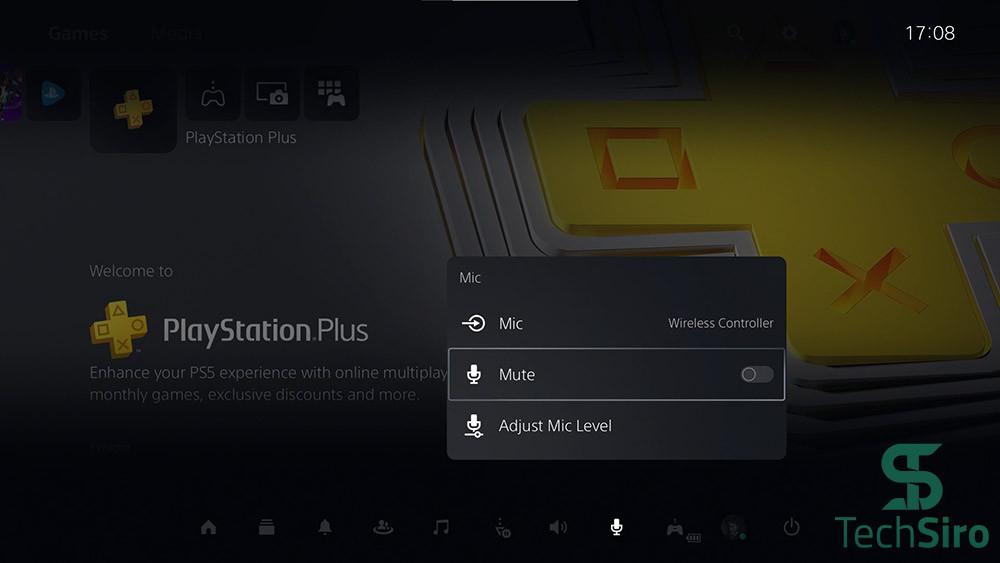 گزینه Mic در PS5