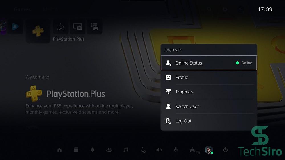 گزینه Profile در PS5