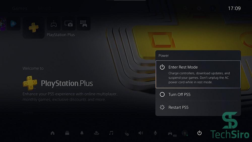 گزینه Power در PS5