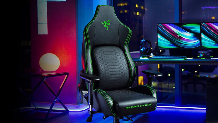 صندلی گیمینگ ریزر مدل Razer Iskur - سبز مشکی